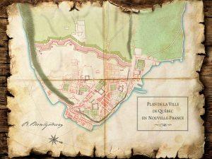 dessin-ancienne-carte-plan-nouvelle-france-quebec