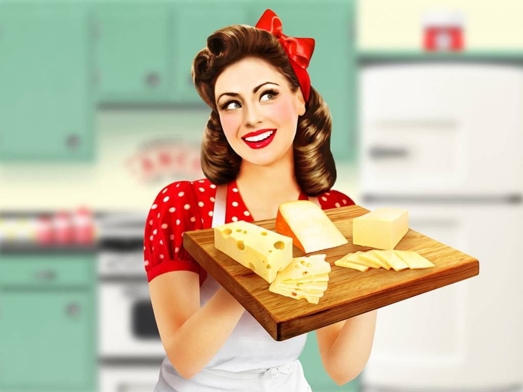 illustration-realiste-pin-up-etiquette-plateau-fromage