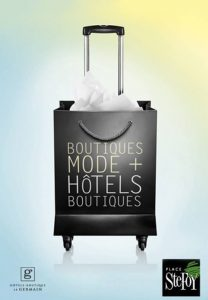 publicite-illustration-mode-valise-sac-magasinage-femme-hotel-germain-centre-achats