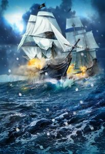 illustration-bateau-bataille-ship-pirates-storm-sea
