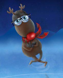 illustration-caribou-reindeer-3d-patin-skate-