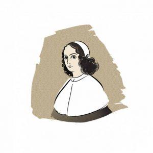illustration-jeanne-mance-personnage-historique-montreal-vecto