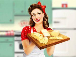 illustration-realiste-pin-up-etiquette-plateau-fromage